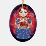 """Ornamento ruso del navidad de la muñeca - """"Elena """" Ornamento Para Reyes Magos"""