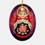 """Ornamento ruso del navidad de la muñeca - """"Natalya Adorno Para Reyes"""
