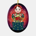 """Ornamento ruso del navidad de la muñeca - """"Sophia Ornamentos De Reyes"""