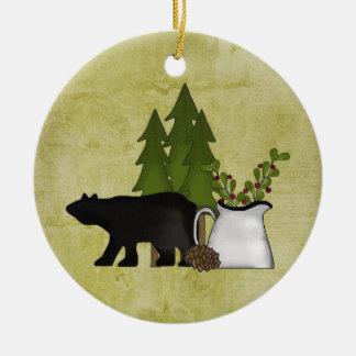 Ornamento rústico personalizado del oso de la mont adorno para reyes