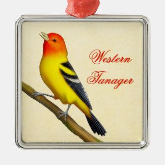 Ornamento salvaje del pájaro del Tanager Ornamento De Navidad