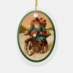 Ornamento-Santa en la motocicleta Ornamento De Navidad