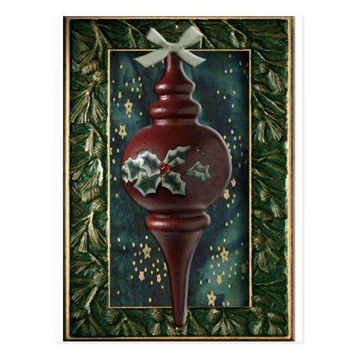 Ornamento santo del árbol de navidad tarjetas postales