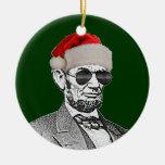 Ornamento secreto del árbol de navidad de Lincoln Adorno Redondo De Cerámica