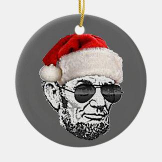 Ornamento secreto del árbol de navidad de Lincoln Ornamento De Navidad