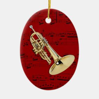 Ornamento - selección de Mellophone- que marcha su Adorno Navideño Ovalado De Cerámica