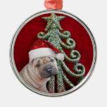 Ornamento shar del perrito del pei del navidad ornamentos de reyes magos