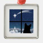 Ornamento silencioso del navidad de la noche ornamento para arbol de navidad