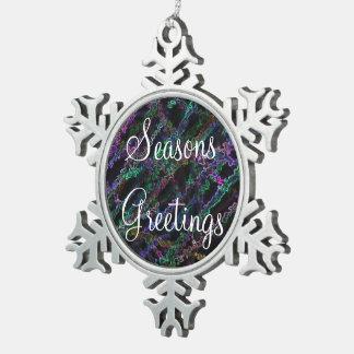 Ornamento solar de neón del copo de nieve adorno