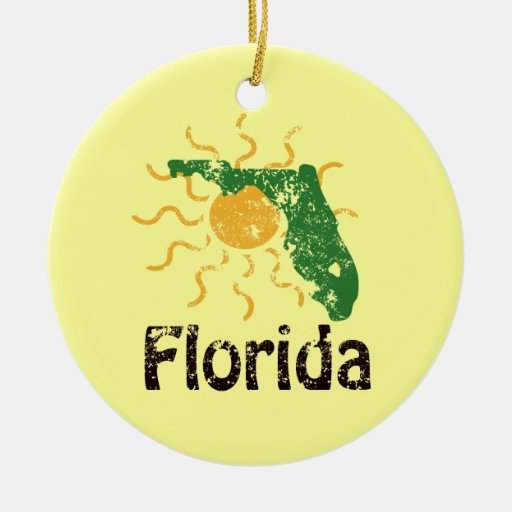 Ornamento soleado de la Florida Ornamentos Para Reyes Magos