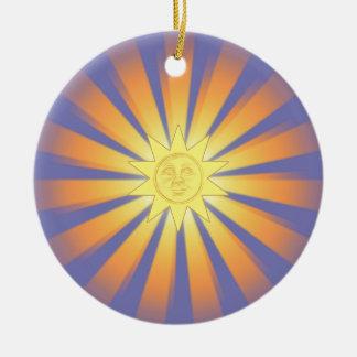 Ornamento soleado del navidad ornaments para arbol de navidad