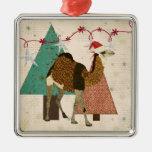Ornamento soñador de la noche estrellada del camel ornamentos de navidad