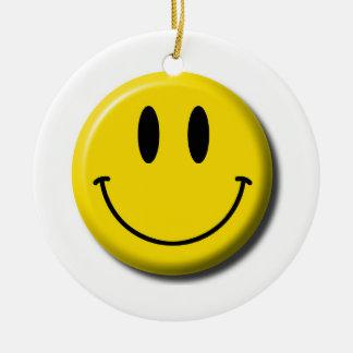 Ornamento sonriente de la cara adornos de navidad