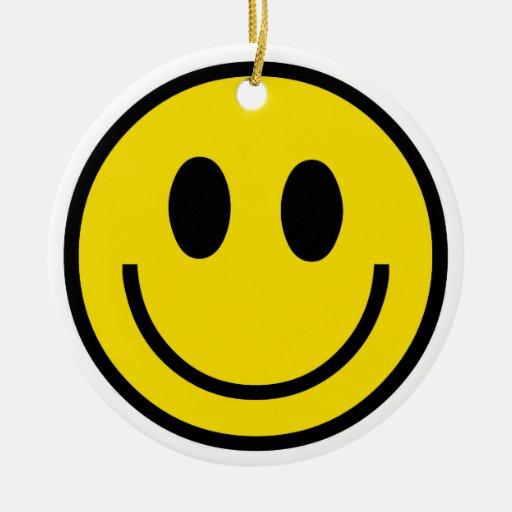 Ornamento sonriente de la sonrisa adorno de navidad