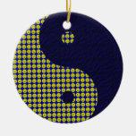 Ornamento sonriente de Yin Yang Ornamentos De Navidad