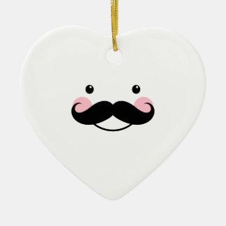 Ornamento sonriente del corazón de la cara del big ornamento de navidad