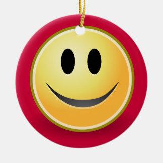Ornamento sonriente del navidad de la cara rojo ornamento para arbol de navidad