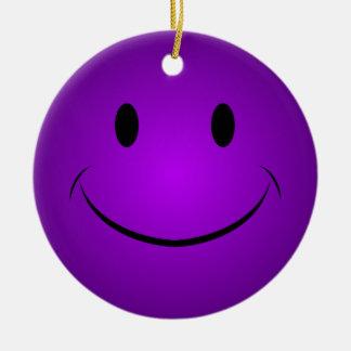 Ornamento sonriente púrpura de la cara ornamentos de reyes