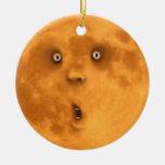 Ornamento sorprendido divertido de la cara de la adornos de navidad