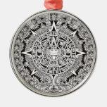 Ornamento superior del navidad del calendario maya adorno de navidad