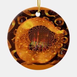 Ornamento surrealista de la luna creciente ornamento para arbol de navidad