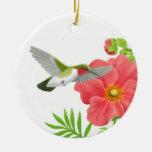 Ornamento Throated de rubíes del colibrí Ornamento De Navidad