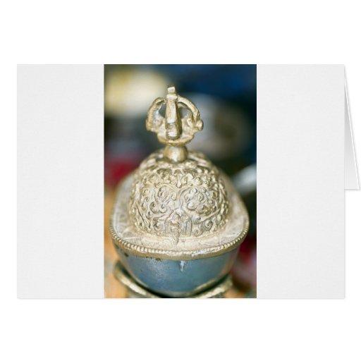 Ornamento tibetano sagrado tarjeton