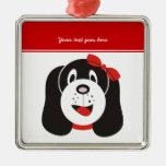 Ornamento tonto feliz del personalizado del perrit adorno de navidad