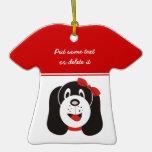 Ornamento tonto feliz del personalizado del perrit ornamento para arbol de navidad