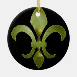Ornamento torcido de la flor de lis ornamento para arbol de navidad