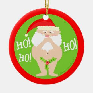 Ornamento travieso divertido del navidad de Santa Ornatos