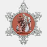 Ornamento travieso o Niza del navidad de Krampus y Adorno De Peltre En Forma De Copo De Nieve