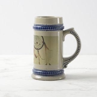 Ornamento tribal del colector del sueño del jarra de cerveza
