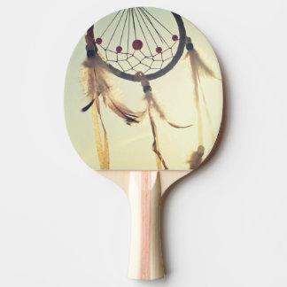Ornamento tribal del colector del sueño del pala de tenis de mesa