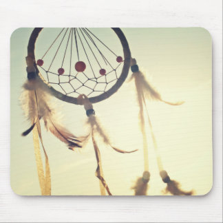 Ornamento tribal del colector del sueño del tapete de ratón
