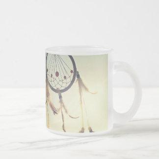 Ornamento tribal del colector del sueño del taza de cristal