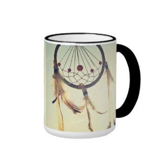 Ornamento tribal del colector del sueño del taza de dos colores