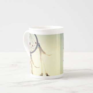 Ornamento tribal del colector del sueño del taza de porcelana