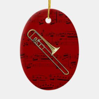 Ornamento - Trombone (alto) - escoja su color Adorno Navideño Ovalado De Cerámica