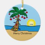 Ornamento tropical del navidad de la palmera ornamentos de reyes magos