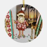 Ornamento tropical del navidad de Santa con el Adornos De Navidad