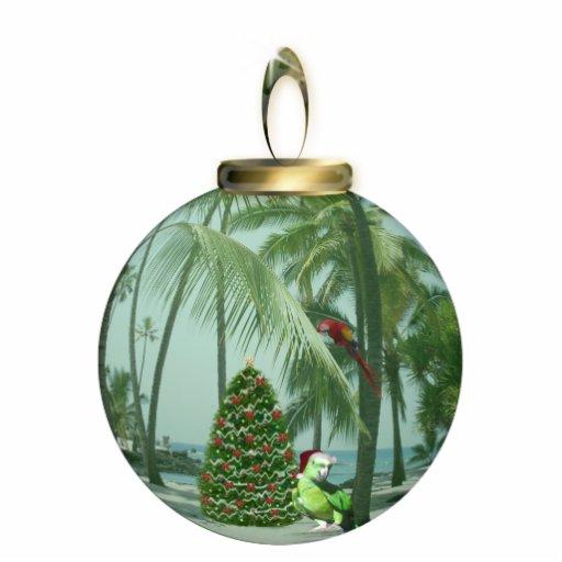 Ornamento tropical del navidad del pájaro escultura fotografica