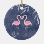 Ornamento tropical personalizado de la playa del ornamentos de navidad
