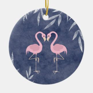 Ornamento tropical personalizado de la playa del f ornamentos de navidad