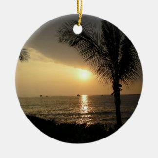 Ornamento tropical personalizado del día de fiesta ornamente de reyes