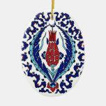 Ornamento turco de la teja adornos
