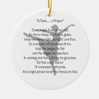 Ornamento unilateral de la danza del rezo de un ornamentos de navidad