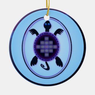 Ornamento valeroso de la tortuga ornamentos de reyes