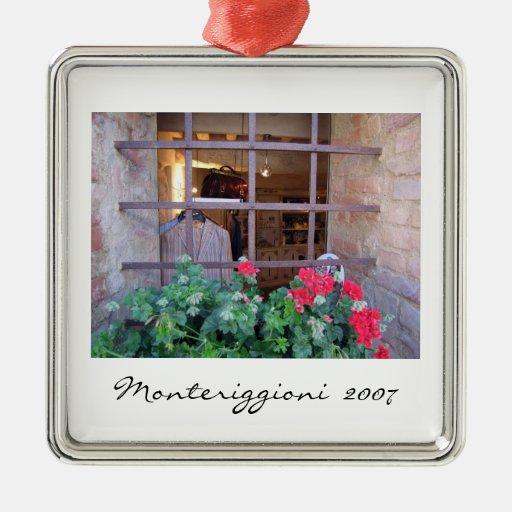 Ornamento - ventana de la tienda en Monteriggioni Adorno Para Reyes