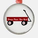 Ornamento ventoso del carro del punto ornaments para arbol de navidad